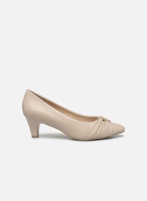Zapatos de tacón Caprice Tiare Beige vistra trasera