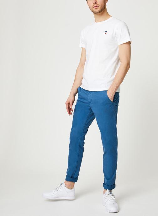 1789 CALA T-Shirt Manches Courtes Ecusson (Blanc) - Vêtements (416429)