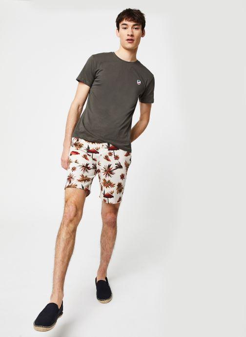 1789 CALA T-Shirt Manches Courtes Ecusson (Vert) - Vêtements (416431)