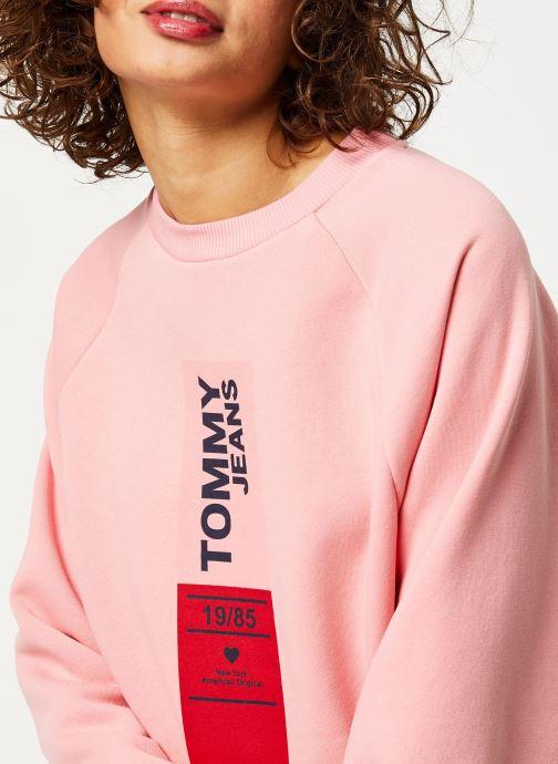 Vêtements Tommy Jeans TJW Vertical Logo Sweatshirt Rose vue face