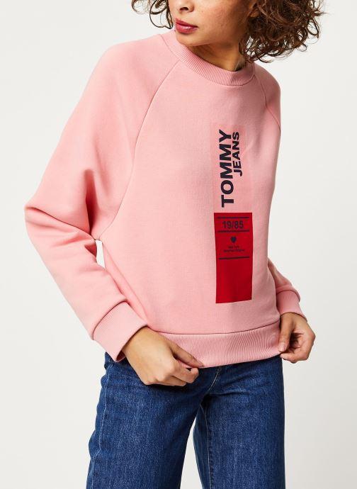 Vêtements Tommy Jeans TJW Vertical Logo Sweatshirt Rose vue droite
