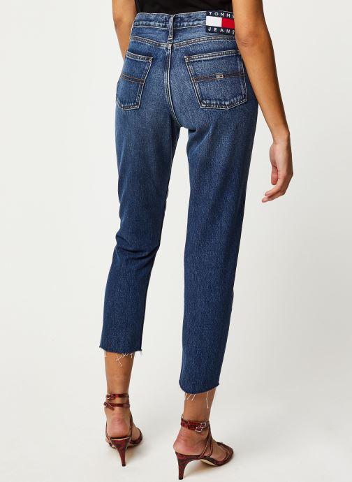 Vêtements Tommy Jeans Izzy High Rise Slim Ankle Vltdk Bleu vue portées chaussures