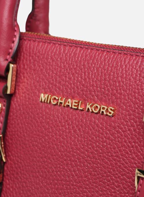 Sacs à main Michael Michael Kors BEDFORD LEGACY MD DOME STACHEL Bordeaux vue gauche