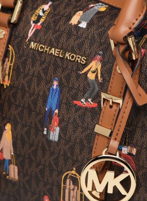 Sacs à main Michael Michael Kors BEDFORD TRAVEL MD DUFFLE SATCHEL Marron vue gauche
