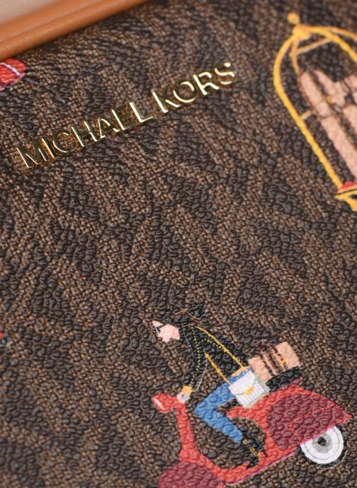 Borse Michael Michael Kors JET SET  CROSSBODY CAMERA BAG Marrone immagine sinistra