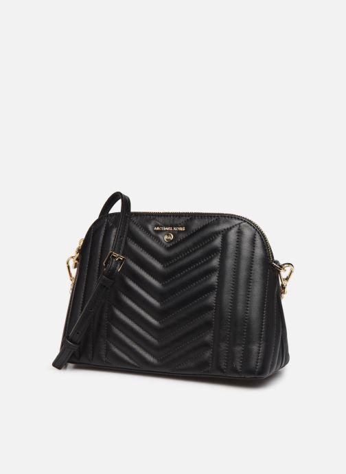 Handbags Michael Michael Kors JET SET CHARMS LG ZIP DOME CROSSBODY Black model view