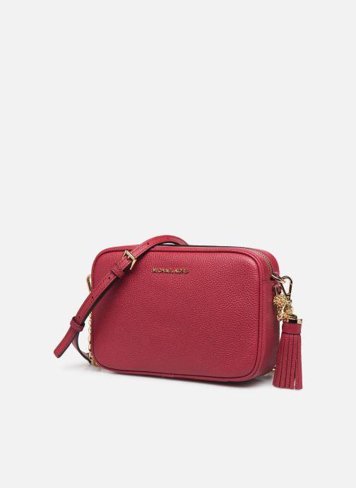 Bolsos de mano Michael Michael Kors JET SET MD CAMERA BAG Rosa vista del modelo