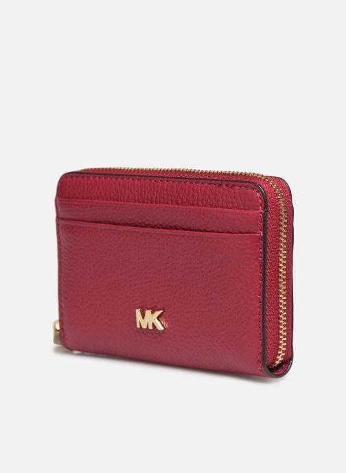 Petite Maroquinerie Michael Michael Kors MOTT ZA COIN CARD CASE Violet vue portées chaussures