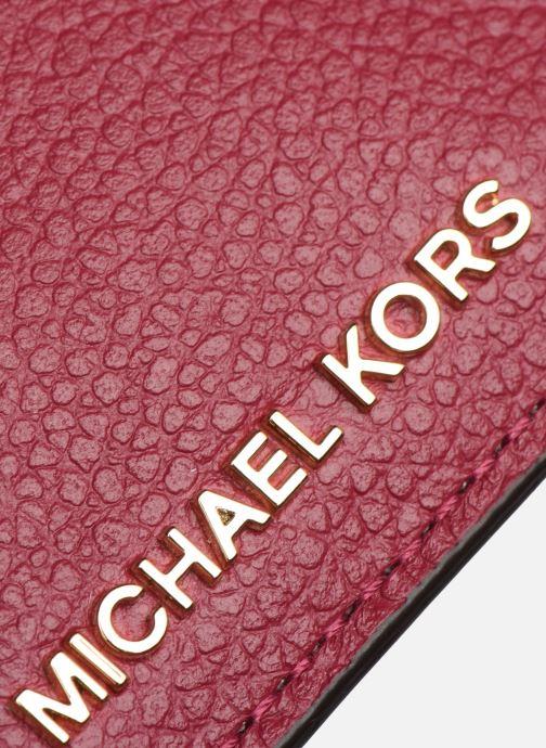 Pelletteria Michael Michael Kors JET SET CARD HOLDER Rosa immagine sinistra