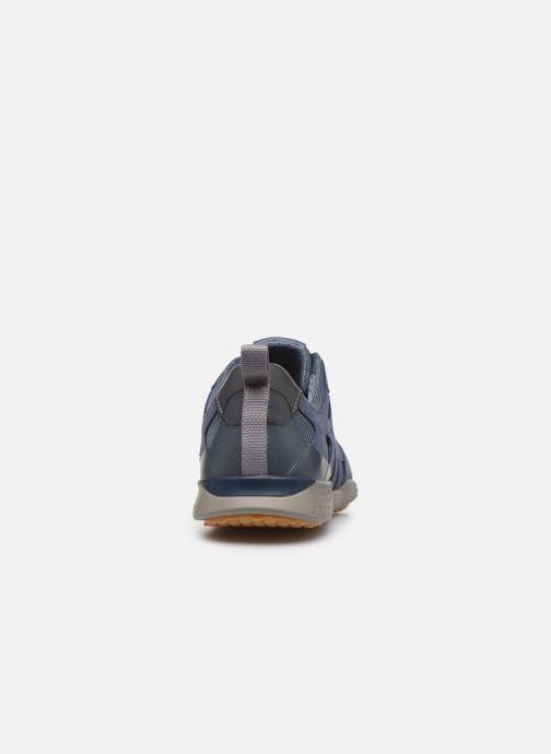 Baskets Geox U SNAKE.2 A U948DA Bleu vue droite