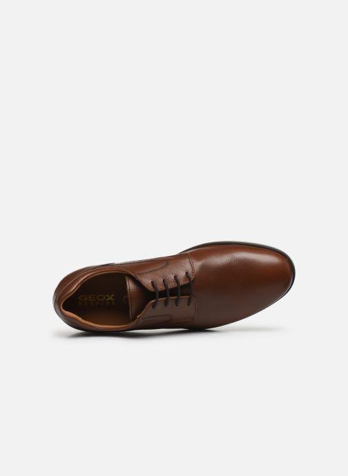 Zapatos con cordones Geox U BLAINEY Marrón vista lateral izquierda