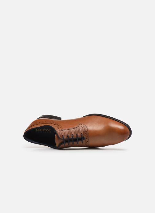 Chaussures à lacets Geox U IACOPO U029GA Marron vue gauche