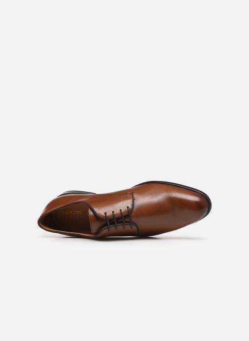 Chaussures à lacets Geox U IACOPO U029GC Marron vue gauche
