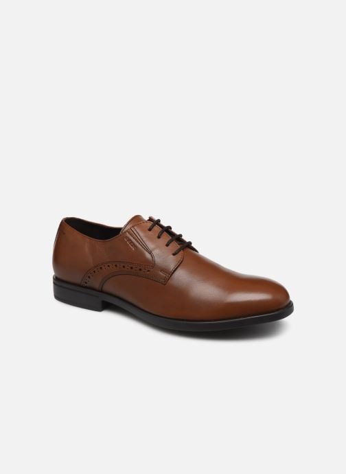 Chaussures à lacets Geox U DOMENICO U029LA Marron vue détail/paire