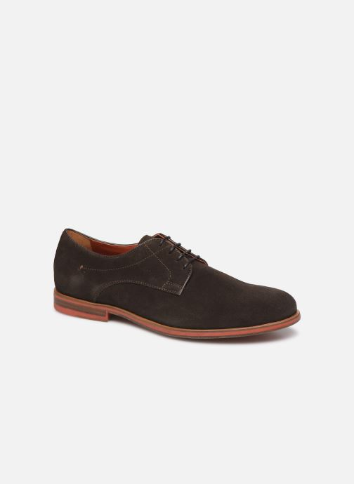 Lace-up shoes Geox U BAYLE Brown detailed view/ Pair view