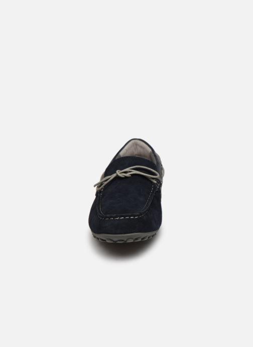 Mocassins Geox UOMO SNAKE MOCASSINO Bleu vue portées chaussures