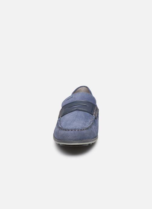 Mocassins Geox U MIRVIN Bleu vue portées chaussures