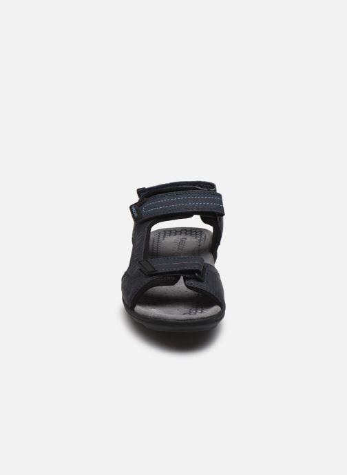 Sandales et nu-pieds Geox U TEVERE Bleu vue portées chaussures