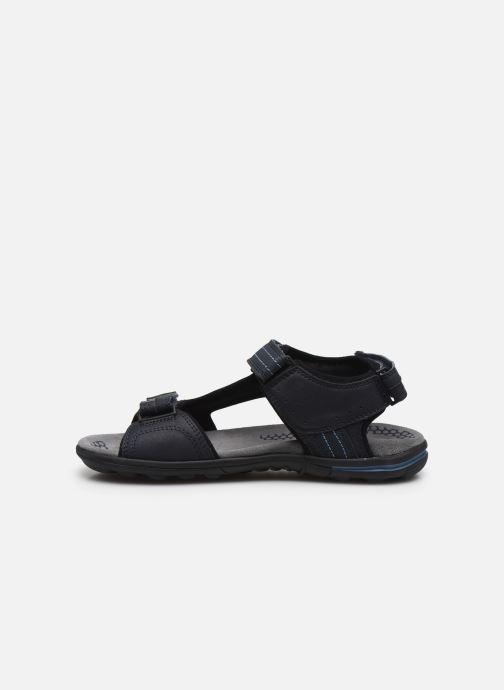 Sandales et nu-pieds Geox U TEVERE Bleu vue face