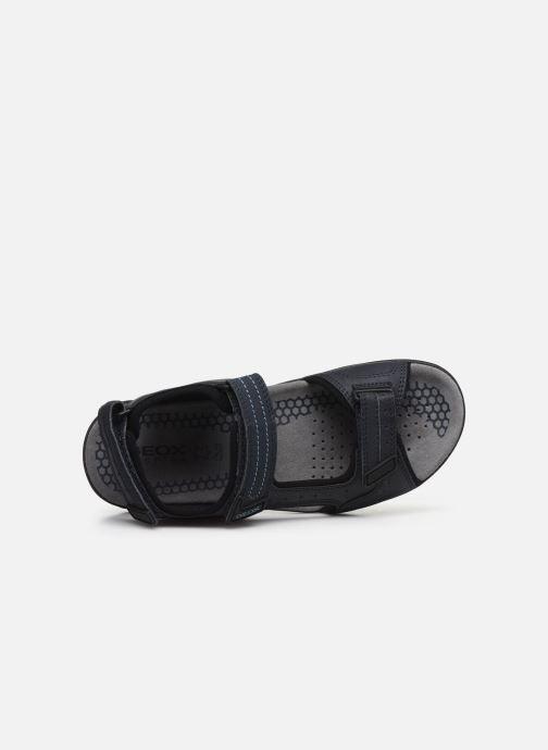 Sandales et nu-pieds Geox U TEVERE Bleu vue gauche