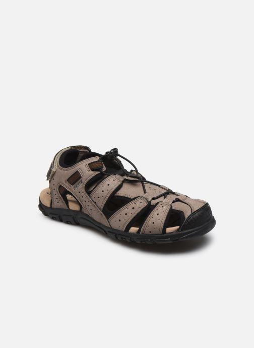 Sandales et nu-pieds Geox UOMO SANDAL STRADA U6224B Marron vue détail/paire