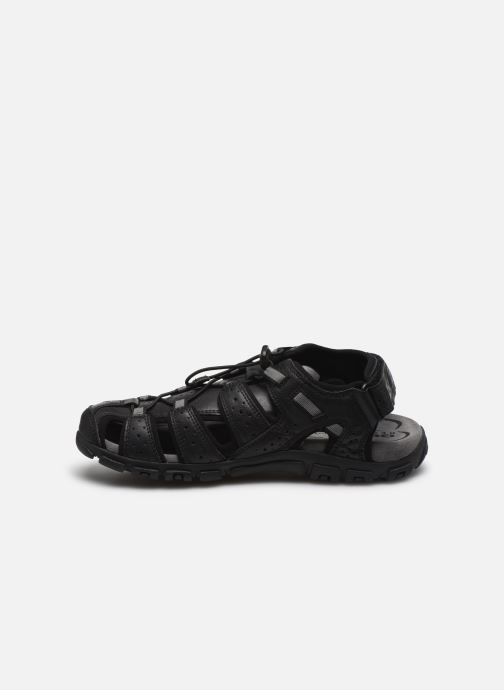 Sandales et nu-pieds Geox UOMO SANDAL STRADA U6224B Noir vue face