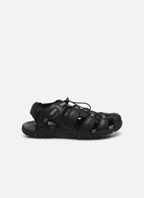 Sandales et nu-pieds Geox UOMO SANDAL STRADA U6224B Noir vue derrière