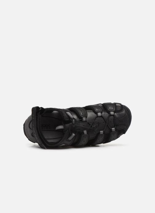 Sandales et nu-pieds Geox UOMO SANDAL STRADA U6224B Noir vue gauche