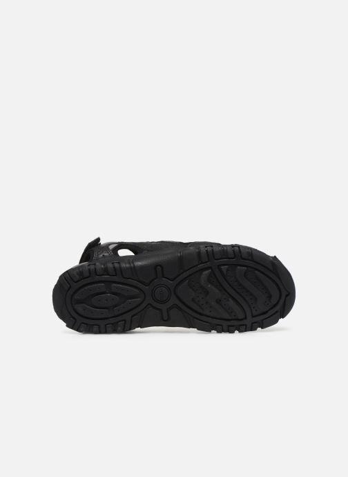 Sandales et nu-pieds Geox UOMO SANDAL STRADA U6224B Noir vue haut