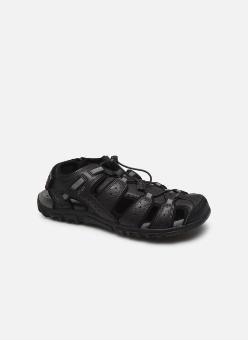 Sandales et nu-pieds Geox UOMO SANDAL STRADA U6224B Noir vue détail/paire