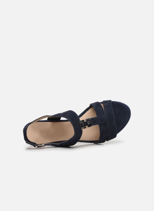 Sandales et nu-pieds Caprice Nuccia Bleu vue gauche