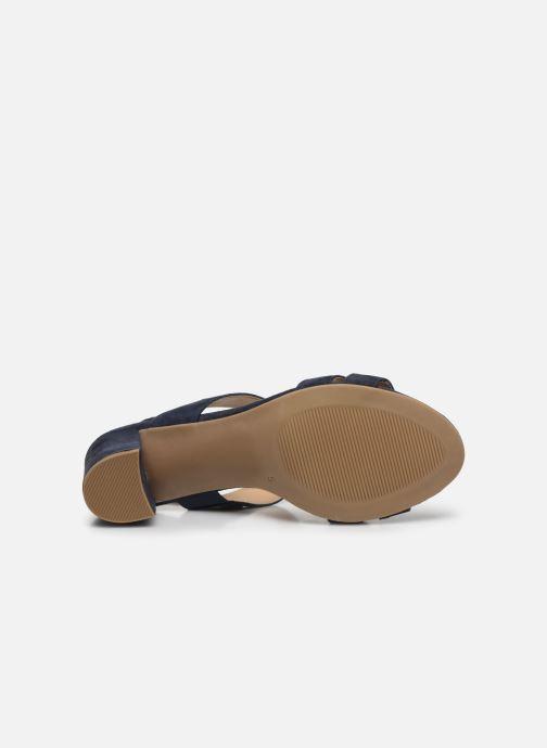 Sandales et nu-pieds Caprice Nuccia Bleu vue haut