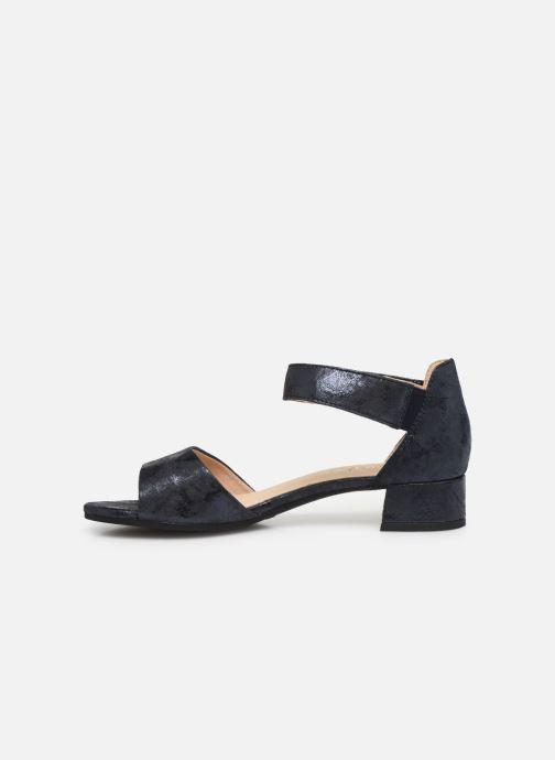 Sandales et nu-pieds Caprice Nara Bleu vue face