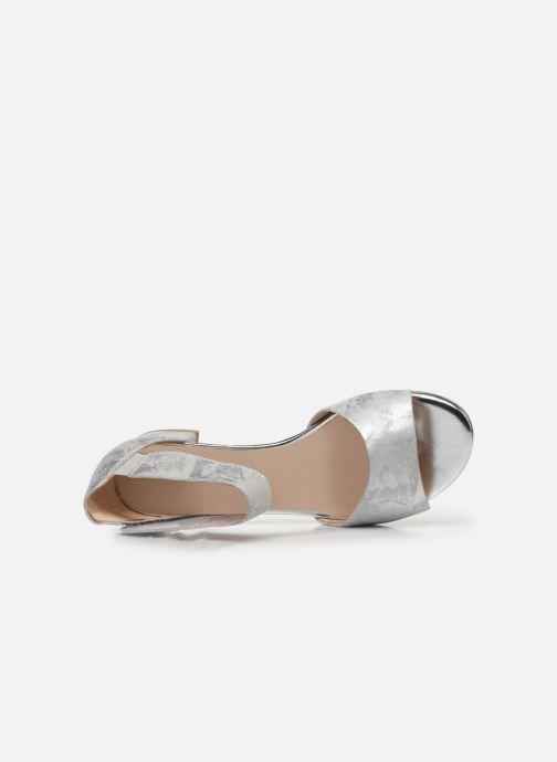 Sandales et nu-pieds Caprice Nara Argent vue gauche