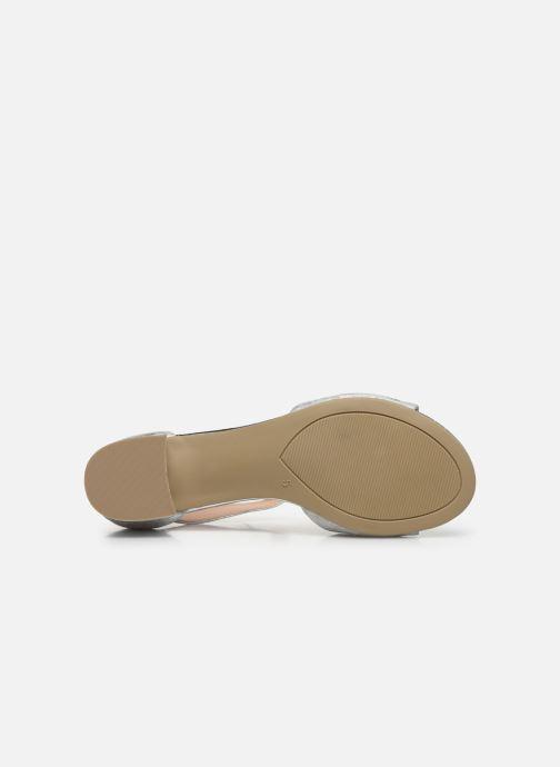 Sandales et nu-pieds Caprice Nara Argent vue haut