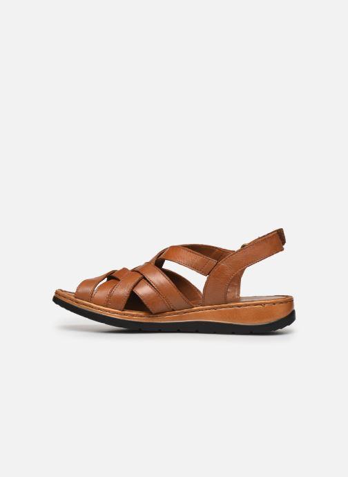 Sandali e scarpe aperte Caprice Nerice Marrone immagine frontale