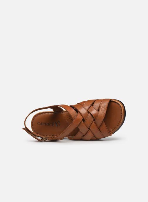 Sandali e scarpe aperte Caprice Nerice Marrone immagine sinistra