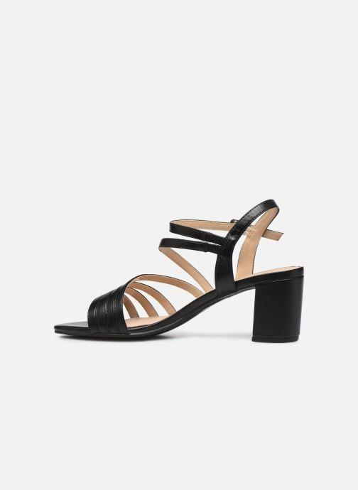 Sandales et nu-pieds Caprice Nima Noir vue face