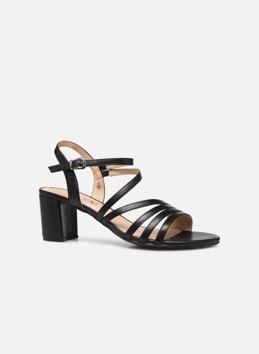Sandales et nu-pieds Caprice Nima Noir vue derrière
