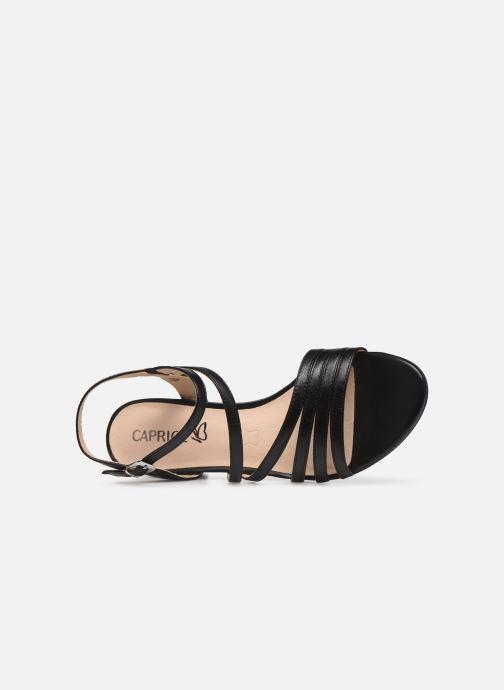 Sandales et nu-pieds Caprice Nima Noir vue gauche