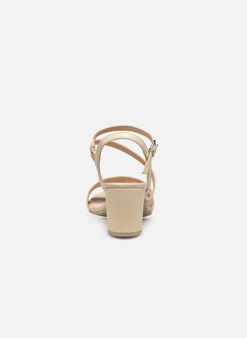 Sandales et nu-pieds Caprice Nima Beige vue droite