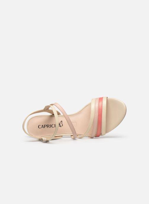 Sandales et nu-pieds Caprice Nima Beige vue gauche
