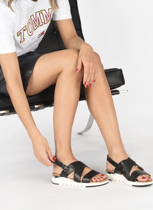 Sandales et nu-pieds Caprice Noor Noir vue bas / vue portée sac