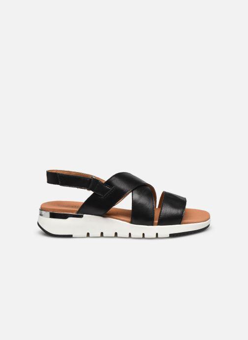Sandales et nu-pieds Caprice Noor Noir vue derrière