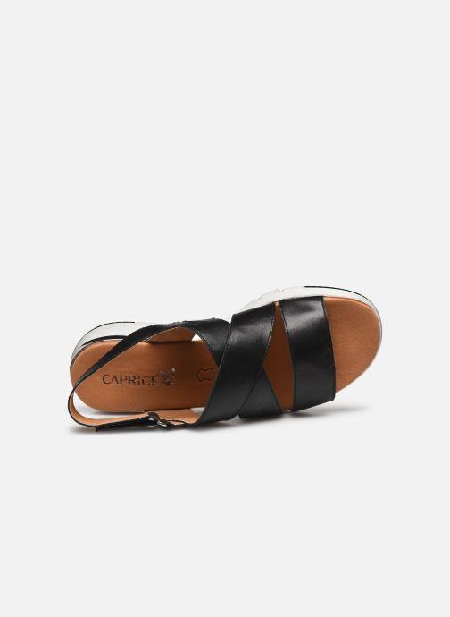 Sandales et nu-pieds Caprice Noor Noir vue gauche