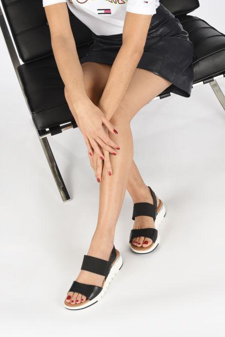 Sandales et nu-pieds Caprice Nova Noir vue bas / vue portée sac