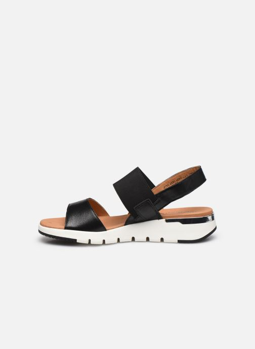 Sandales et nu-pieds Caprice Nova Noir vue face