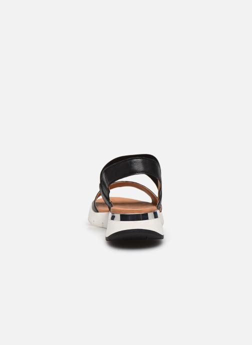 Sandales et nu-pieds Caprice Nova Noir vue droite