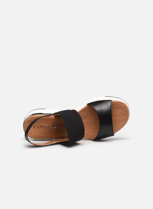 Sandales et nu-pieds Caprice Nova Noir vue gauche