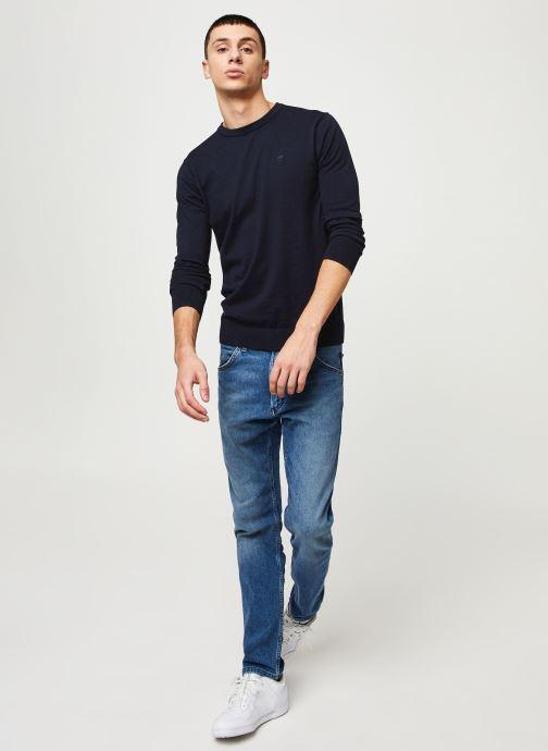 Vêtements Scotch & Soda Cotton cashmere crewneck knit Bleu vue bas / vue portée sac